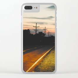Night on Route 666 Clear iPhone Case