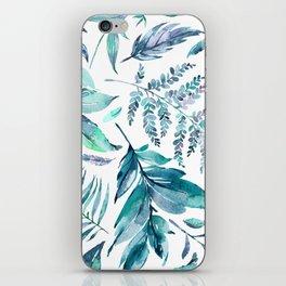 Teal manic botanic iPhone Skin