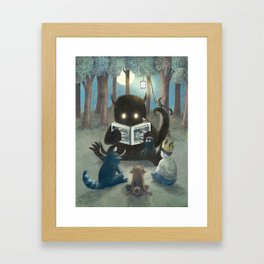 Reading Circle (option) Framed Art Print