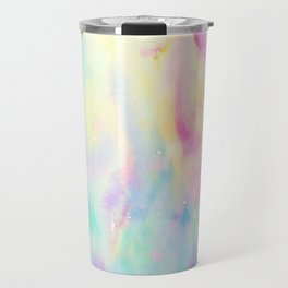 Watercolor Abstract Landscape Blue and Purple Travel Mug