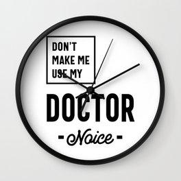 Doctor Work Job Title Gift Wall Clock