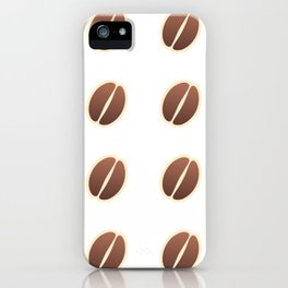 Tasty coffee seamless pattern iPhone Case