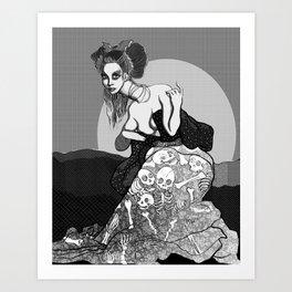 Yuki-onna Art Print