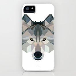 Geometric Wolf iPhone Case