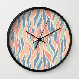 Go with the Flow in Pink + Blue Wall Clock