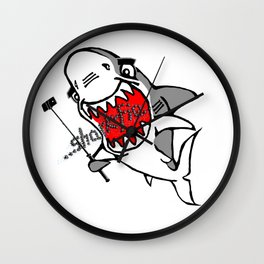 Sharkfie Wall Clock