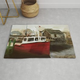 Tranquility - Watercolor Painting Rug