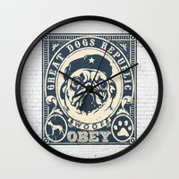 obey Wall Clocks featuring OBEY by solomnikov