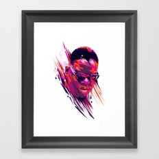 The Notorious B.I.G: Dead Rappers Serie Framed Art Print