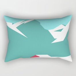 icy mountain Rectangular Pillow