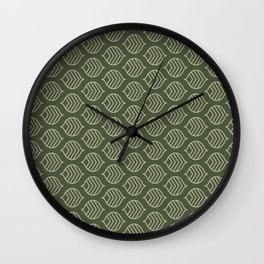 Olive Scales Wall Clock