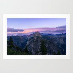 Yosemite National Park at Sunset Art Print