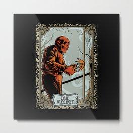 Skull Welder Tarot Metal Print