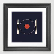 Vinyl Food Framed Art Print