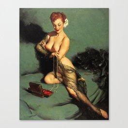 Fascination Gil Elvgren Pin Up Girl Canvas Print