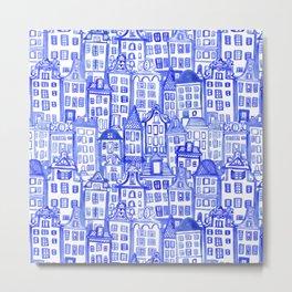 Dutch Row Houses Metal Print