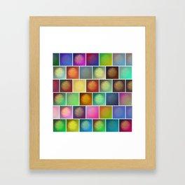 Multicolored suns Framed Art Print
