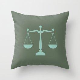 Libra Zodiac / Scale Star Sign Poster Throw Pillow