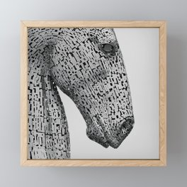 The Kelpies Sculpture in Falkirk Scotland Framed Mini Art Print