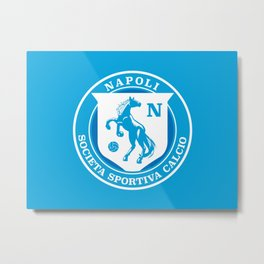 Naples Horse Football badge Metal Print