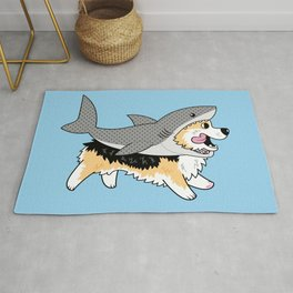 Another Corgi in a Shark Suit Rug