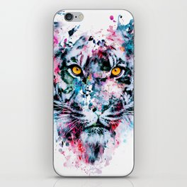 Tiger Blue iPhone Skin