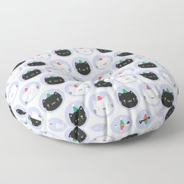 Cute Cats in Party Hats Floor Pillow