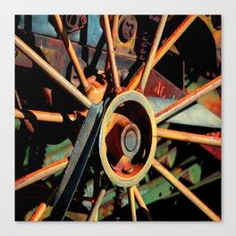Color Tractor Wheel Canvas Print