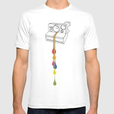 Polaroid Drips MEDIUM White Mens Fitted Tee