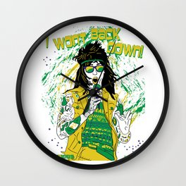Falling in Reverse-Brazil Ronnie White Wall Clock