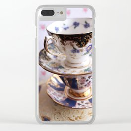 Teacup Duo Clear iPhone Case