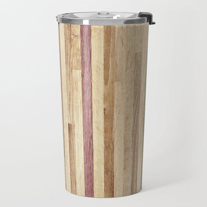 Wooden wall panel Travel Mug
