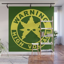 Warning High Voltage Wall Mural