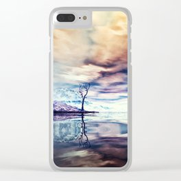 Winter am See Clear iPhone Case