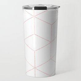 Simply Cubic in Rose Gold Sunset Travel Mug