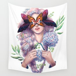 The Butterfly Mask Wall Tapestry