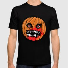Jack-o-Lantern Mens Fitted Tee Black MEDIUM
