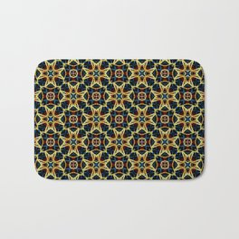 Beautiful Beadwork Inspired Geometric Pattern Bath Mat