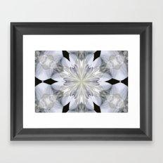 White Arctic Queen Kaleidoscope Framed Art Print