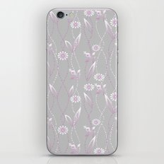 Gray lilac floral pattern . iPhone & iPod Skin