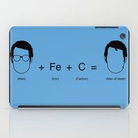 man of steel iPad Cases featuring Man of Steel Equation by mr adam cain