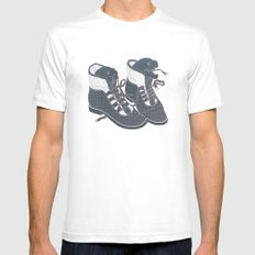 Moray Heels White MEDIUM Mens Fitted Tee