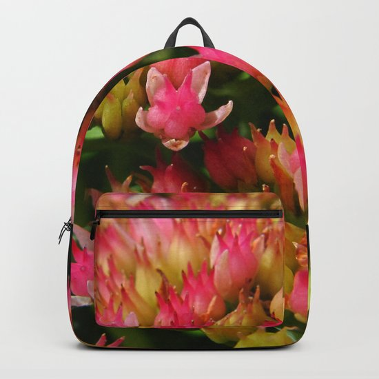 buds of pink flowers Backpack