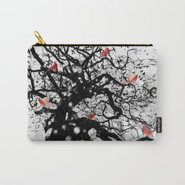Red Birds in Snow by GEN Z Carry-All Pouch