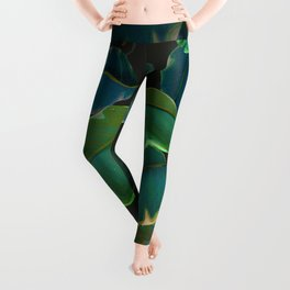 Leaves at Night Leggings