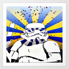 Psychedelic Trooper 2 Art Print