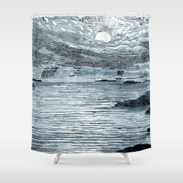 In The Beginning Shower Curtain