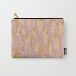 Twin Flames Brushstroke Mustard Carry-All Pouch