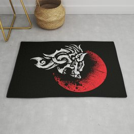 Viking Fenrir - Monstrous Wolf Norse Mythology Rug
