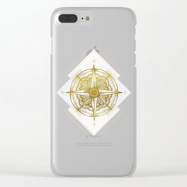 Golden Compass Clear iPhone Case